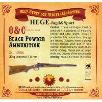 450.250 CAS Schrotpatronen Black Powder 30g Leadshot 2,5mm
