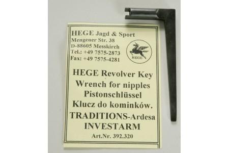 392.320/392.321 Pistonschlüsselin 5,3mm L-Form ( Tradition-Ard, Investarm)